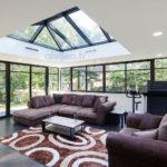 véranda à toiture plate moderne