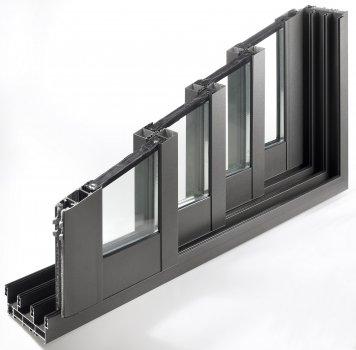 Fenêtres Aluminium coulissant coupe